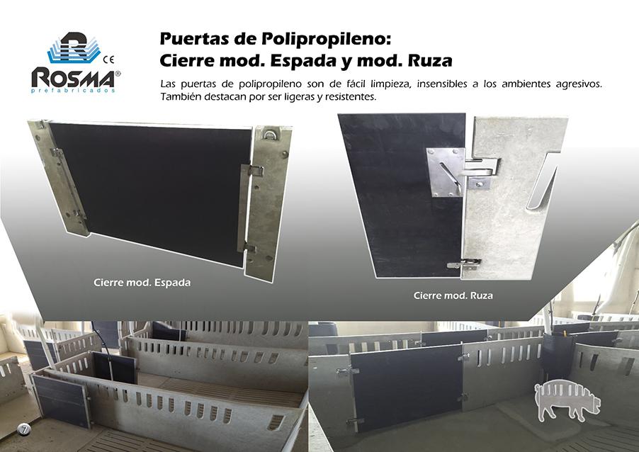 Catalogo Rosma prefabricado cierres polipropileno