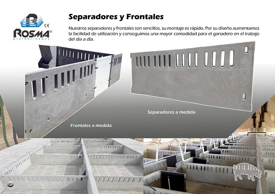 Catalogo Rosma prefabricado frontales separados