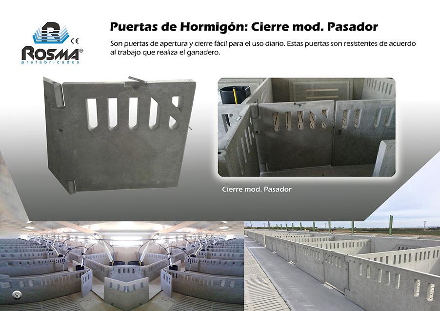 Catalogo Rosma prefabricado puertas cierre pasador