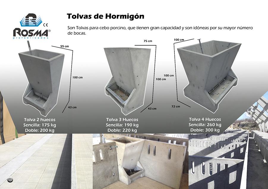 Catalogo Rosma prefabricado tolvas hormigón